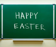 Happy Easter chalk handwritten Royalty Free Stock Photos