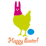Happy easter chicken Stock Photography