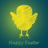 Happy easter chicken card Royalty Free Stock Photo