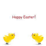 Happy Easter Chicks Stock Image
