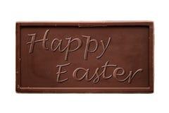 Happy Easter chocolate bar EN-US Stock Photo