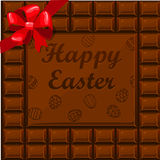 Happy Easter chocolate Royalty Free Stock Image