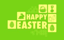 Happy Easter Collage Background Royalty Free Stock Photography