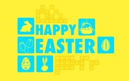 Happy Easter Collage Background Royalty Free Stock Image