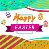 Happy Easter color,white background with colorful egg, Egg hunt for children template layout. Vector illustration vector illustration