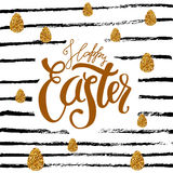 Happy  Easter colored fun background Stock Images