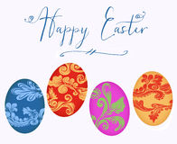 Happy Easter With Colorful Eggs Royalty Free Stock Image