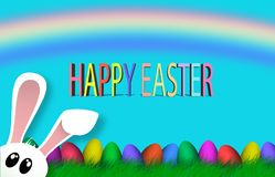 Happy Easter Colorful eggs Religion background holiday stock illustration