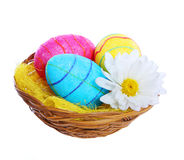 Happy Easter. Colorful Glitter Eggs Royalty Free Stock Photography