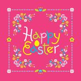 Happy Easter colorful lettering royalty free illustration