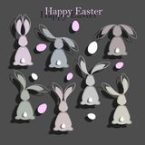 Happy easter colorful postcard background. Stock Images