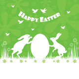 Happy easter colorful postcard background. Vector illustration Stock Image