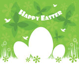 Happy easter colorful postcard background. Vector illustration Royalty Free Stock Photos