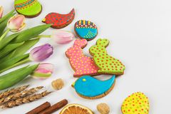Happy easter coming Stock Images