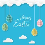Happy Easter, concept of greeting cards with beautiful colorful Easter eggs