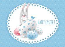 Happy Easter congratulation stock illustration