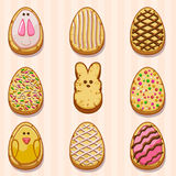 Happy easter cookies Stock Photography