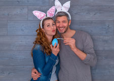 Happy easter couple Royalty Free Stock Photos