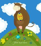 Happy easter cow background Stock Image