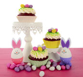 Happy Easter cupcakes Royalty Free Stock Photos
