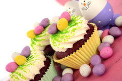 Happy Easter cupcakes Stock Photo