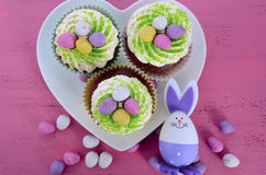 Happy Easter cupcakes Stock Images