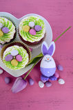 Happy Easter cupcakes Royalty Free Stock Photo