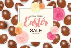 Happy Easter Cute Background with Eggs. Collection Set of Cards. Vector Illustration. EPS10 Royalty Free Stock Image