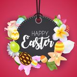 Happy Easter Cute Background with Eggs. Vector Illustration Royalty Free Stock Image