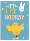 Happy Easter cute card in vector. Royalty Free Stock Photography
