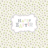Happy easter. Cute greeting card template Stock Images