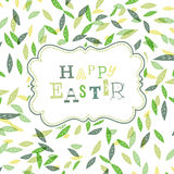 Happy easter. Cute greeting card template, Stock Photos