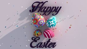 Happy Easter 3D 2015. Get this amaizing 3d easter concept banner Royalty Free Stock Photos