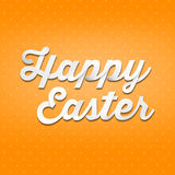 Happy Easter, 3D handwriting type on patern background Royalty Free Stock Images