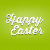 Happy Easter, 3D handwriting type on pattern background Royalty Free Stock Photos