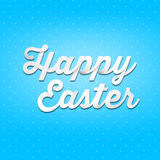 Happy Easter, 3D handwriting type on pattern background Stock Photo