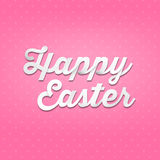Happy Easter, 3D handwriting type on pattern background Royalty Free Stock Photography