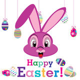 Happy Easter day with animal for egg isolated on white background. Royalty Free Stock Images
