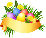 Happy Easter day banner. Royalty Free Stock Photography