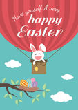 Happy easter day for card design Stock Images