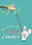 Happy easter day for card design Royalty Free Stock Photography