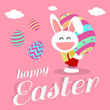 Happy easter day for card design Stock Photo