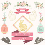Happy Easter Day Collections. A vector illustration of Happy Easter Day Collections. Perfect for Happy Easter day, Easter celebrations, greeting card and many Royalty Free Stock Image