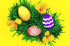 Happy Easter Day & spring is coming concept Royalty Free Stock Photo