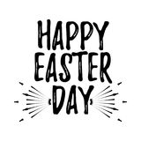Happy Easter Day label. Font with Brush. Easter day badges. Vect Royalty Free Stock Image