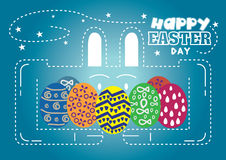 Happy Easter Day rabbit Stock Photo