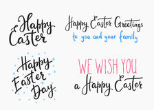 Happy easter day simple lettering. Royalty Free Stock Photography