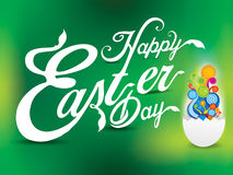 Happy easter day text background Royalty Free Stock Images