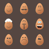 Happy Easter Day. Vector set of eggs, Happy Easter Day Royalty Free Stock Photography