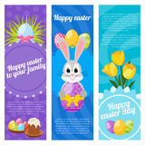 Happy Easter Day Vertical Banners Stock Image